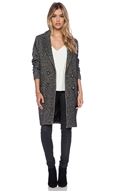 Essentiel Hector Ivy League Coat in Grey