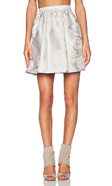 Essentiel Paradise City Mini Skirt in Ivory & Silver