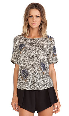 Essentiel Hockneypre Static Flower Blouse en Multi