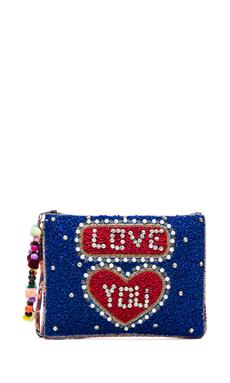 Essentiel Love You Clutch in Blue