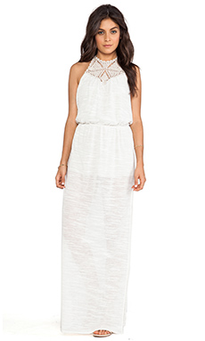 Eternal Sunshine Creations Hana Maxi Bare Back Dress in Birch