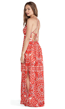 Eternal Sunshine Creations Lobelia Maxi Dress in Red