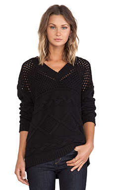 Eternal Sunshine Creations Georgia V Neck Pullover in Black