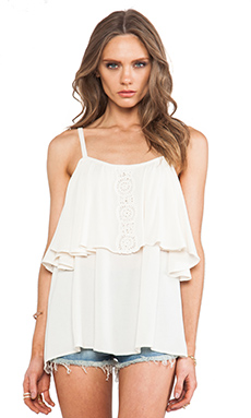 Eternal Sunshine Creations Sofia Open Shoulder Top in Ivory