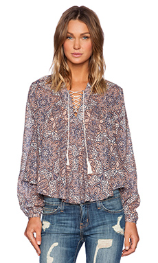 Eternal Sunshine Creations Farah Boho Blouse in Antique Peach