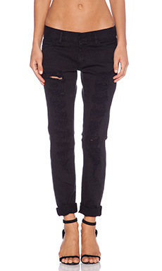Etienne Marcel Distressed Skinny in Black