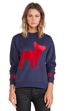 etre cecile Big Dog Boyfriend Sweatshirt in Navy