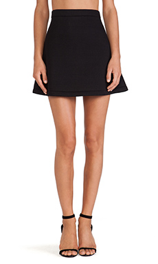 etre cecile Neoprene A-Line Mini Skirt in Black