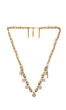 Ettika Braided Medallion Necklace in Brass