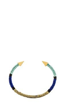 Ettika Spike Cuff in Gold & Blue