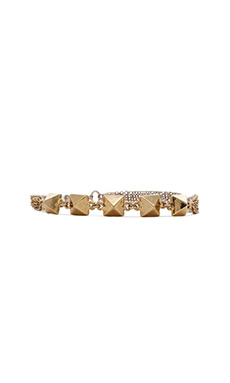 Ettika Dainty Triangle Pyramid Bracelet in Gold