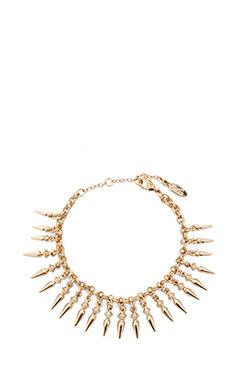 Ettika Multi Spike Charm Bracelet in Gold