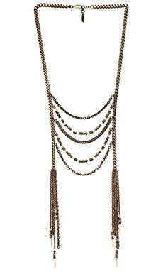 Ettika Beaded Long Lariat Necklace in Brass