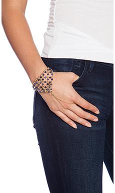 Ettika Sodalite Beads and Stars Hand Chain in Gold