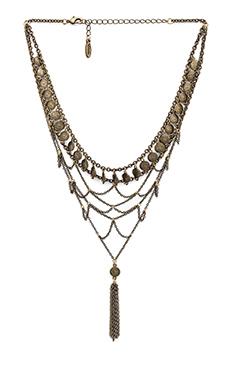 Ettika Choker Bib Necklace in Brass