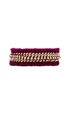 Ettika Braided Friendship Bracelet in Pink