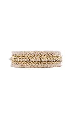 Ettika Braided Friendship Bracelet in Cream