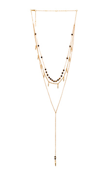 Ettika Bead and Spike Necklace in Gold