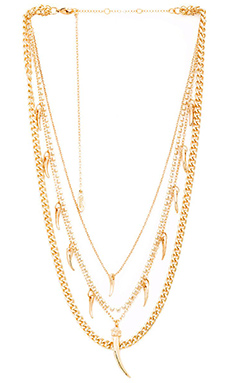 Ettika Horn Layer Necklace in Gold