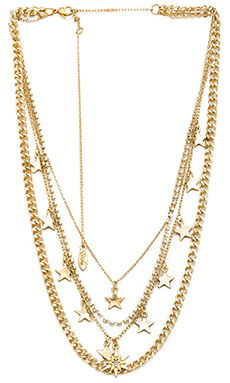 Ettika Layered Star Necklace in Gold
