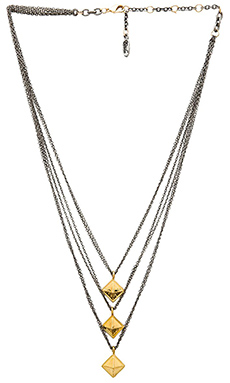 Ettika Multi Layered Pyramid Necklace in Gold