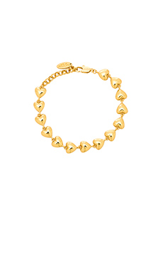 Ettika Heart Tennis Bracelet in Gold