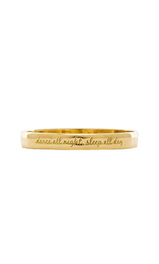 Ettika Dance All Night Sleep All Day Bangle in Gold