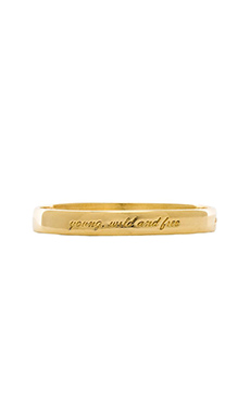 Ettika Young Wild & Free Bangle in Gold