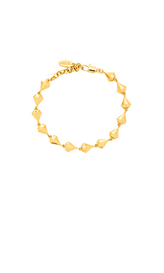 Ettika Diamond Charm Bracelet in Gold