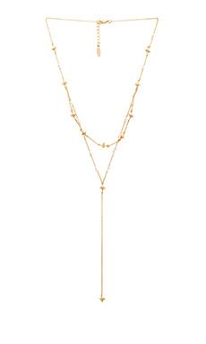 Ettika North Star Wrap Necklace in White & Gold