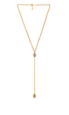 Ettika Hamsa Lariat Necklace in Gold