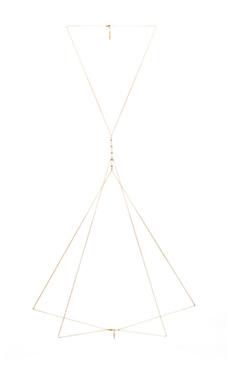 Ettika Body Chain in Gold & White