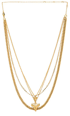 Ettika Rhinestone Layered Necklace in Gold