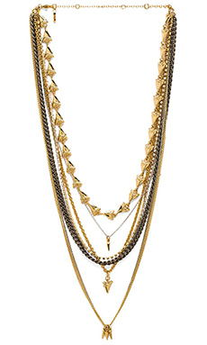 Ettika Sharktooth Layered Necklace in Gold & Silver