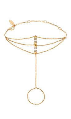 Ettika Hand Multilayer Harness in Gold & White
