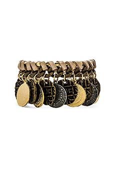 Ettika Coin Layered Bracelet in Brass