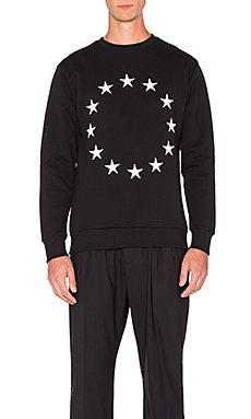 Etudes Studio Etoile Europe Crew Sweatshirt in Black
