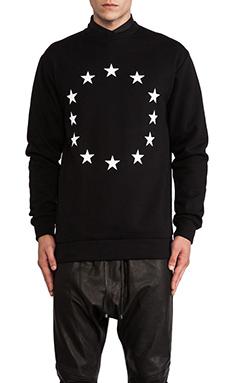 Etudes Studio Etoile Europe Crew Sweatshirt in Black