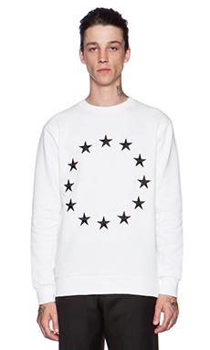 Etudes Studio Etoile Europa Crew Sweatshirt in White