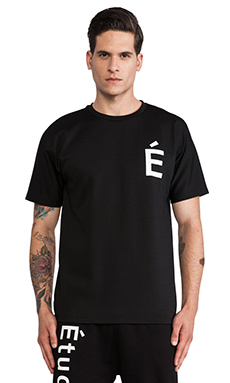 Etudes Studio Powder Slim Net Tee in Black