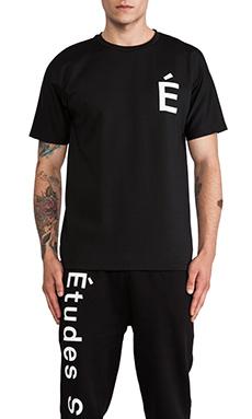 Etudes Studio Powder Slim Net Tee in Black
