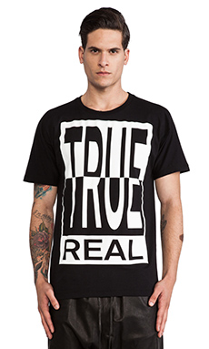 Etudes Studio Powder Slim True Real Tee in Black
