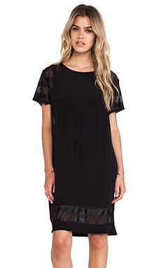 Evil Twin Clean Slate Blocked Tee Dress in Black