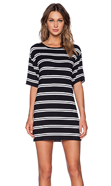 Evil Twin Push And Shove Tee Dress in Black & White