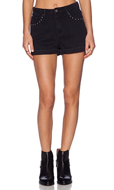 Evil Twin Tally Ho Denim Shorts in Black