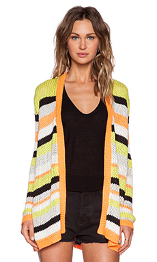 Evil Twin No Fun Knit Cardigan in Stripe
