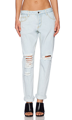 Evil Twin 90210 Straight Leg Jeans in Light Blue