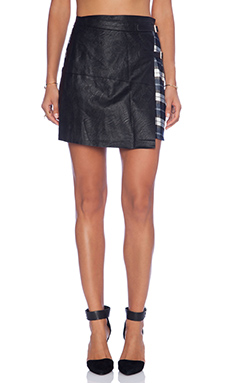 Evil Twin Awakening Kilt Skirt in Black