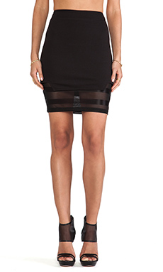 Evil Twin Clean Slate Layered Tube Skirt in Black