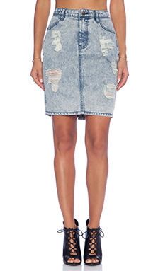 Evil Twin Straight Up Skirt in Blue Acid